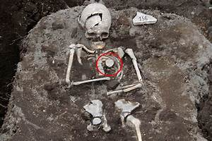 'Vampire grave' of skeleton with stake through its heart ...