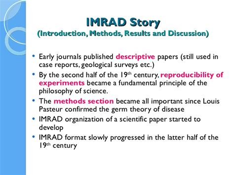 Introduction, materials and methods, results, and discussion (short: Science research papers format