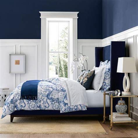 top   navy blue bedroom design ideas calming wall