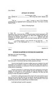Legal Forms Affidavit of Service