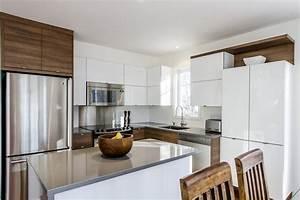 cuisine contemporaine bois et lumiere hawey design With cuisine contemporaine en bois