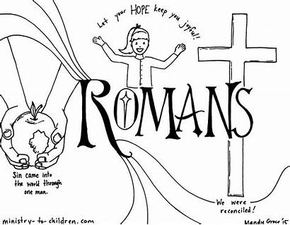 Romans Bible Coloring Pages Children Roman Books