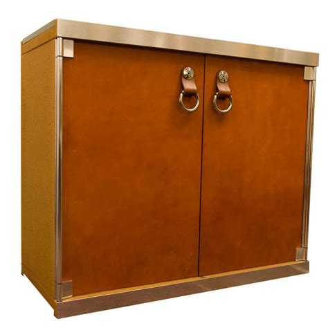 canadian kitchen cabinets mariani designed cabinet with hermes leather at 1stdibs 1979