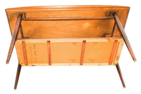 Mid Century Modern Sofa Table by Beautiful Mid Century Modern Walnut Bassett Two Tier