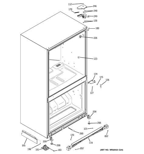 ge pdsenbzadss bottom mount refrigerator parts sears partsdirect