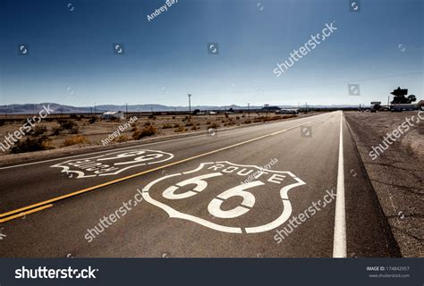 Famous Route 66 Landmark On Road Stock Photo 174842957