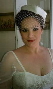 Hand Crafted Heart Shaped Pillbox Wedding Hat With