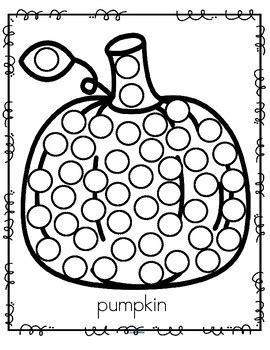 fall themed dot marker printables apple pumpkin leaf