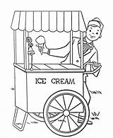 Ice Cream Coloring Pages Parlor Stand Printable Getcolorings Bestcoloringpagesforkids sketch template