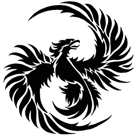 Owl Pumpkin Carving Templates Easy by Phoenix Bird 2 Stencil Sp Stencils Phoenix Pinterest