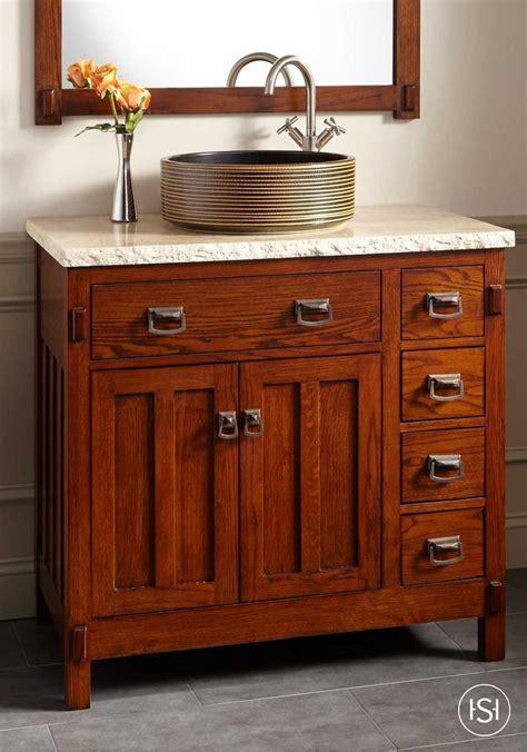 rustic vessel sink vanity 30 quot bastian teak vessel sink vanity rustic brown