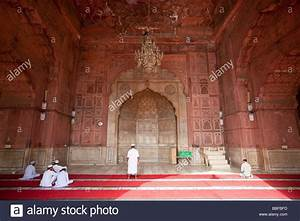 Inside the Jama Masjid or Friday Mosque in Old Delhi India ...