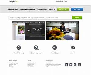 12 awesomely designed support centers and what makes them With smugmug templates