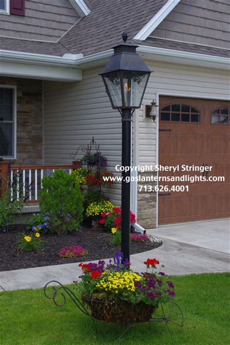 gas lights traditional outdoor lighting houston by