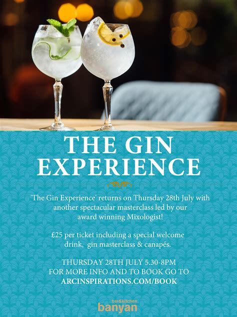Gin tasting experience poster - Corn Exchange