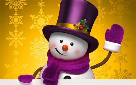 aesthetic cute snowman christmas hd computer wallpaper