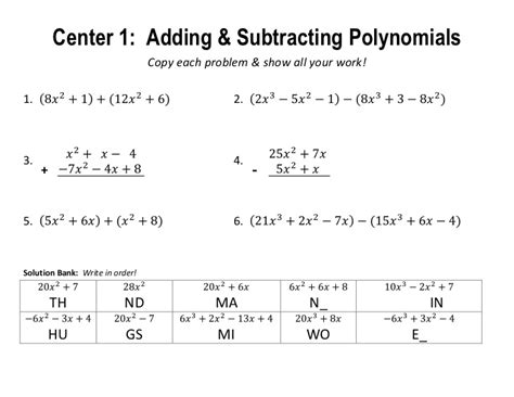 Polynomial Review Centers