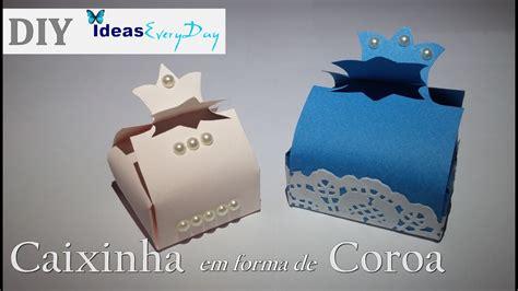 molde de caixas com coroa diy boxes for gifts with crown youtube
