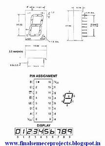 Final Year Projects  Tutorial About Seven Segment Display Pin Diagram  Internal Circuit And How