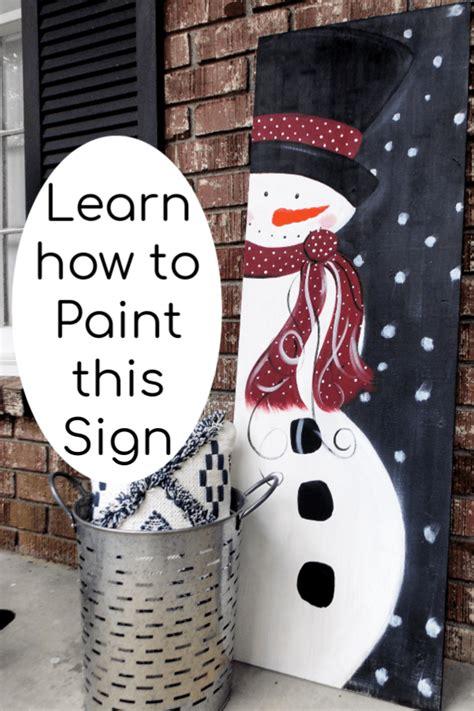 diy wood signs   snowman painting  wood