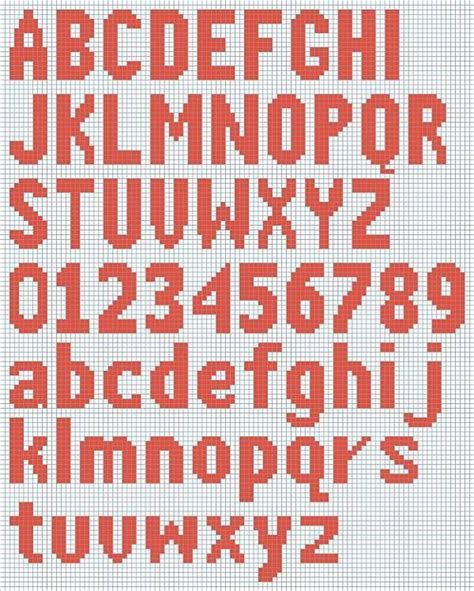 knitting chart letters numbers google search crochet