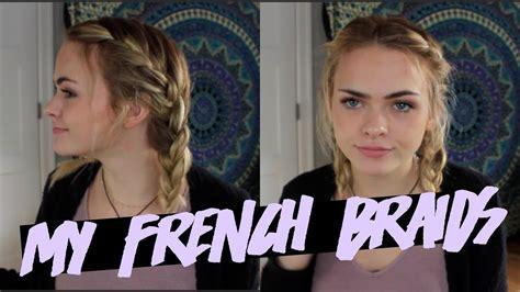french braid short hair summer mckeen youtube