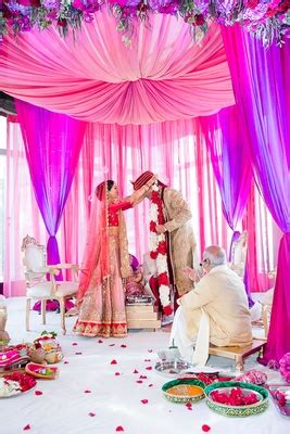 vibrant indian wedding with purple details in new york