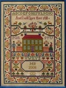 15 Off Moira Blackburn Samplers Chart Scottish Love