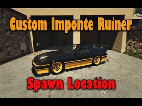 Gta 5 Online Custom Car Imponte Ruiner Spawn Location