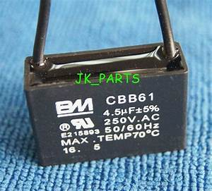 New Bm Cbb61 4 5uf 2 Wire 250vac Ceiling Fan Capacitor Ul Certified