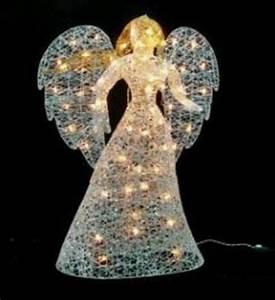 48, U0026quot, Led, Lighted, White, Glitter, Angel, Christmas, Yard, Art, Decoration, -, Warm, White, Lights