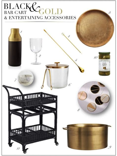 Gold Bar Accessories by A New Favorite Bar Cart With Black And Gold Entertaining