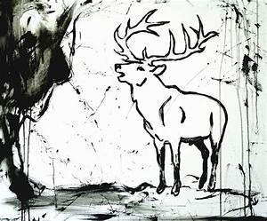 Gemälde Hirsch Modern : die besten 25 hirsch illustration ideen auf pinterest weihnachten illustration s e ~ Orissabook.com Haus und Dekorationen