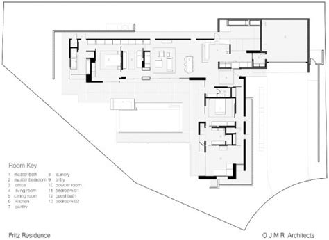 simple modernistic suburban house fritz residence  ojmr architects digsdigs