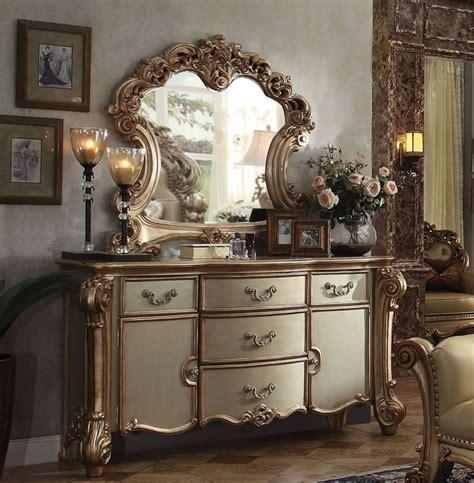 vendome dresser  gold patina finish  acme