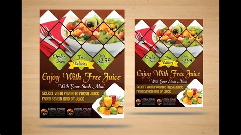 coreldraw  tutorial    food brochure design