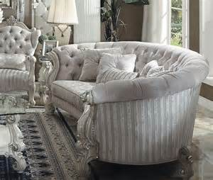 versailles button tufted ivory velvet bone white finish