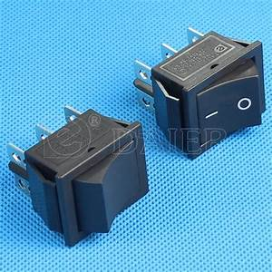 Rocker Switch T120 55 2 Way On On Black And Red And 16a