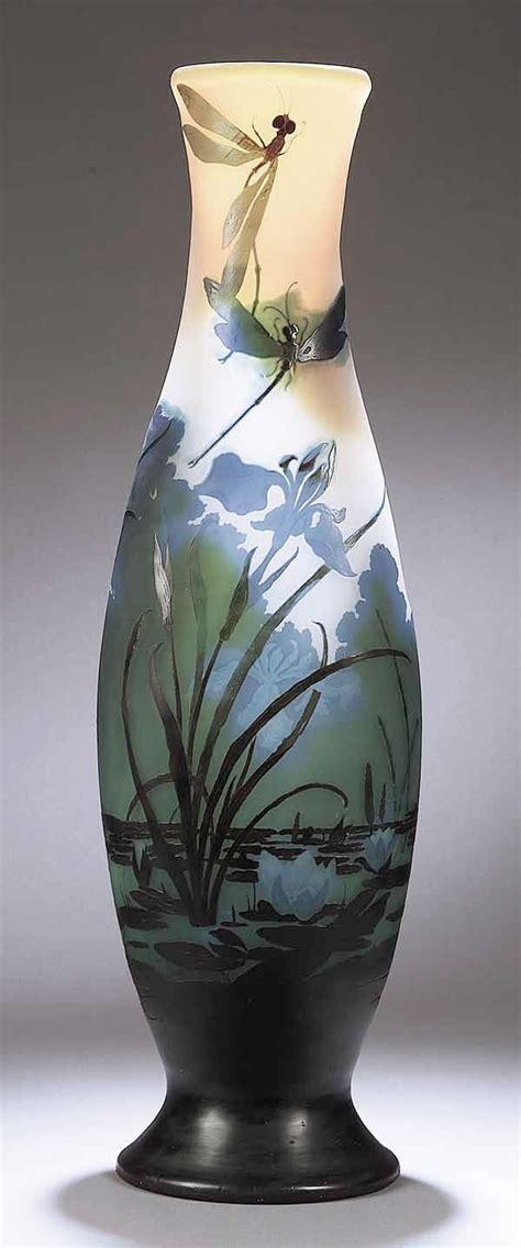 vases home decor art nouveau cameo glass vase