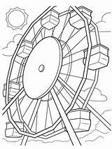 Ferris Crayola Ausmalbilder Riesenrad sketch template