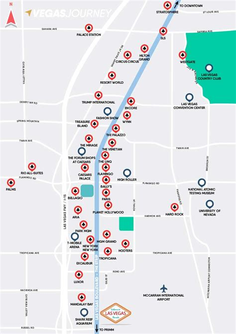 las vegas strip map las vegas maps vegasjourneycom