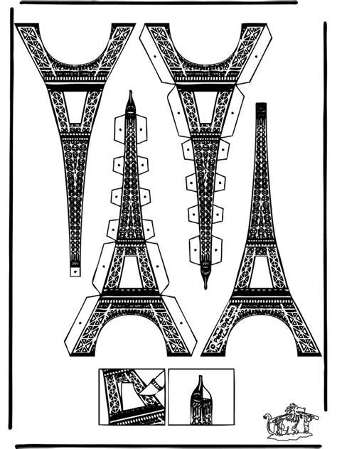 papercraft eifel tower cut  cardboard templates