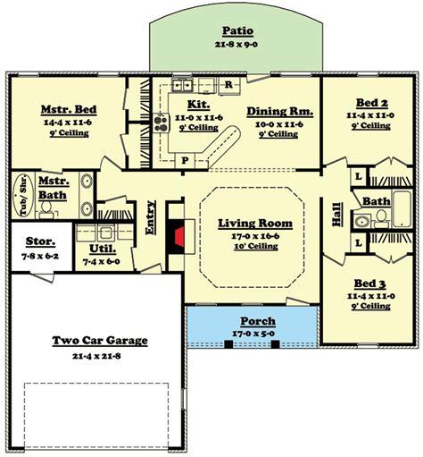 split floor plans split bedroom ranch home plan 11700hz 1st floor master suite cad available metric pdf