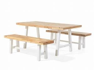 Balkonmöbel Set Holz : gartenm bel weiss braun balkonm bel terrassenm bel holz tisch 2 b nke scania ~ Yasmunasinghe.com Haus und Dekorationen