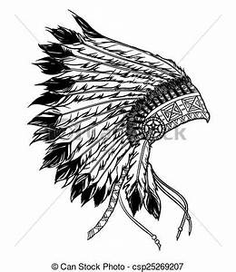 Indian Feather Headdress Clipart (62+)