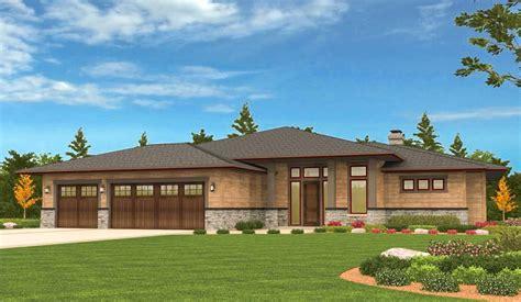 prairie ranch home  walkout basement ms architectural designs house plans