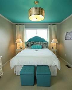 Peindre Un Plafond Facilement : peindre le plafond en couleur 20 exemples pour vous ~ Premium-room.com Idées de Décoration