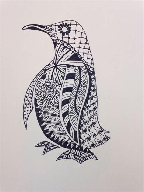 images  kleurplaten pinguins  pinterest