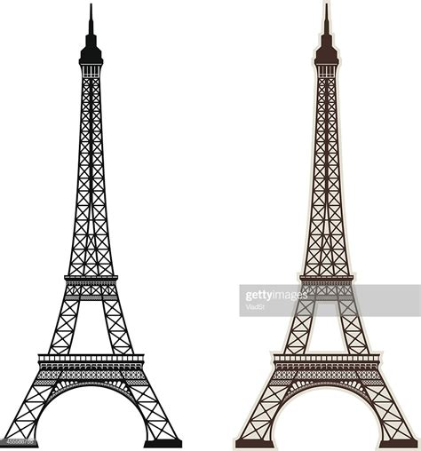 eiffel tower paris vector art getty images