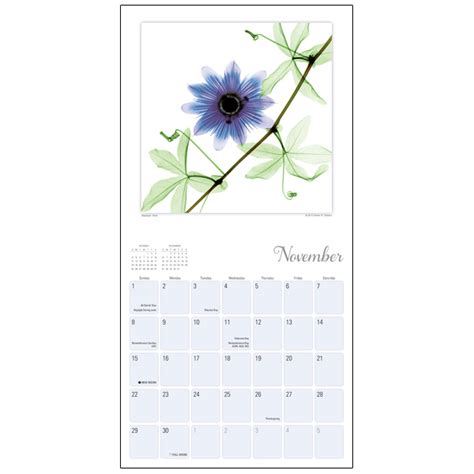 flower spirits wall calendar rsvp